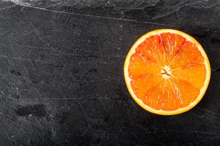 Bloedsinaasappel vers gesneden Stockfoto