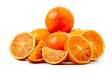 halved  half: Blood Orange fresh cut Stock Photo