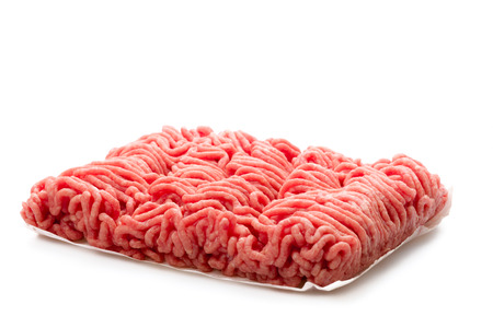exempted: Organic minced meat isolated on a white background