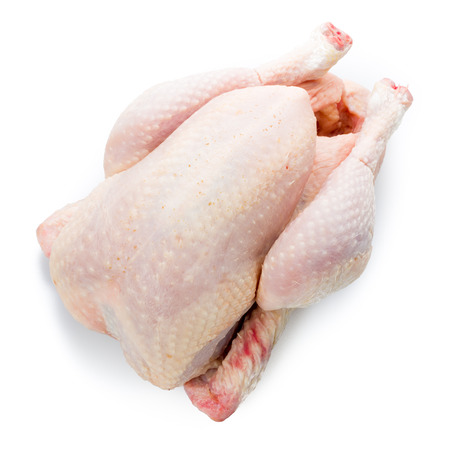 Raw chicken isolated on a white background