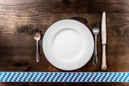 lye: Bavaria Oktoberfest background cutlery wooden underground