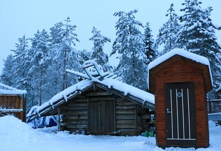 rovaniemi: The Santa Village in Rovaniemi in Finland Stock Photo