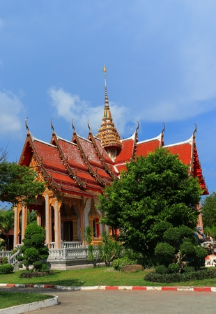 phuket province: The Beautiful Thailand Temple at Phuket Province Stock Photo