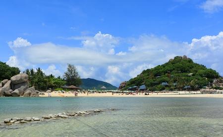 beach landscape: The Nangyaun Beach Landscape view on Vacation trip Stock Photo