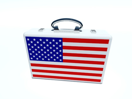 briefcase with american flag photo