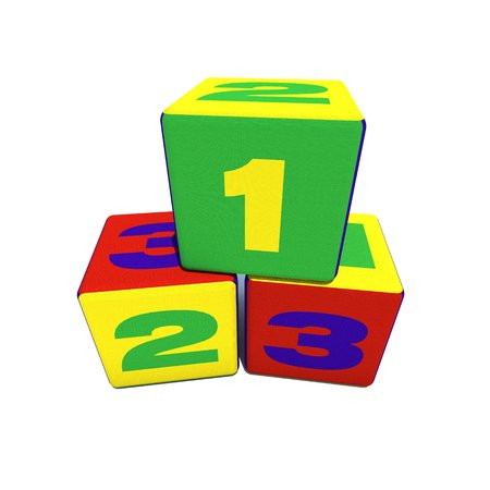 toy block cubes on white isolated photo
