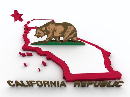 California 3d map photo