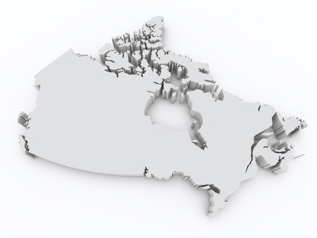 Canada 3d map photo