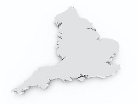 british isles: England 3d map
