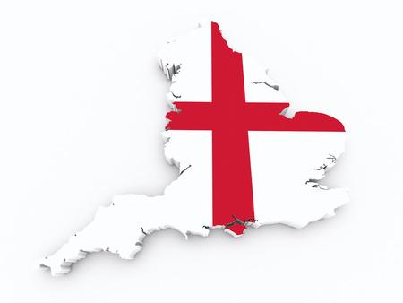 England flag on 3d map