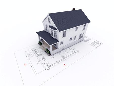 dibujo tecnico: casa en dibujo arquitect�nico