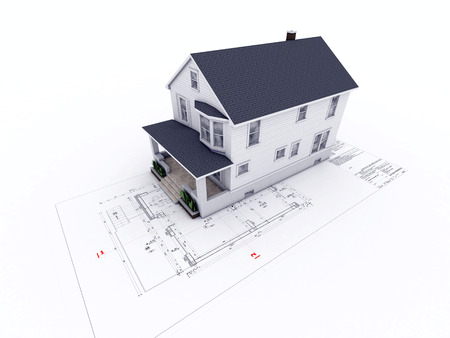 maison sur dessin d'architecture