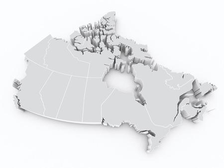 canadian flag: canada provinces map