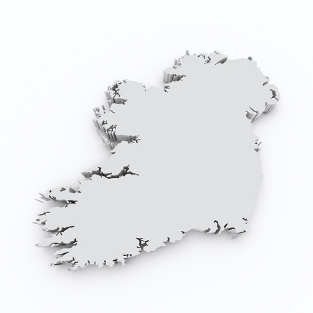 ireland 3d map photo