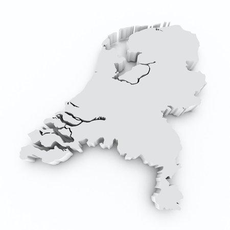 rotterdam: map netherlands on white isolated