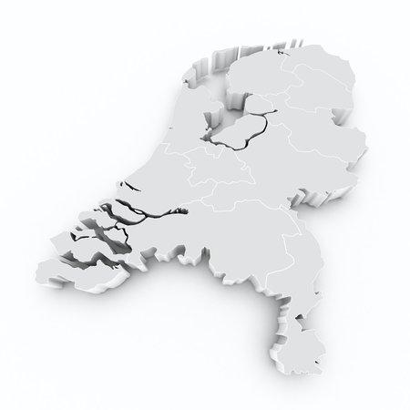 map of netherlands: map netherlands on white isolated