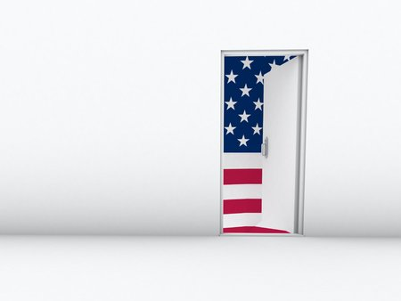 immigration to usa Stock Photo