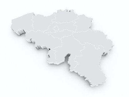 limburg: belgium 3d map