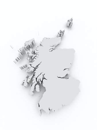 british isles: Scotland 3d map