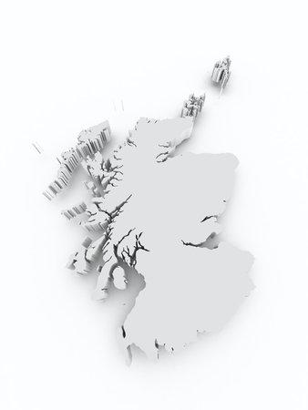 leeds: Scotland 3d map