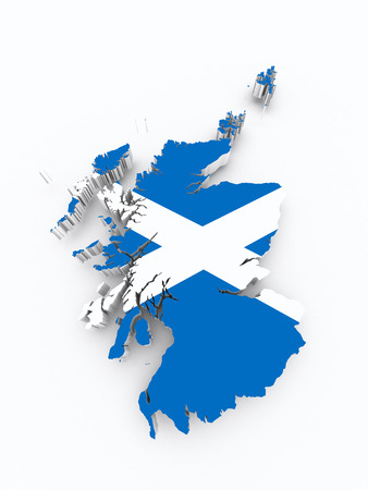 oxford: Scotland flag on 3d map