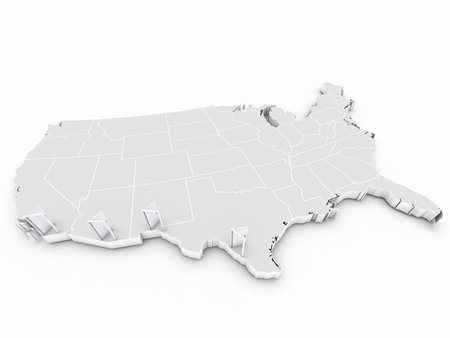 immigration: map usa immigration Stock Photo