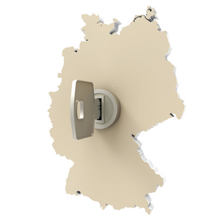 holstein: map germany beige with key