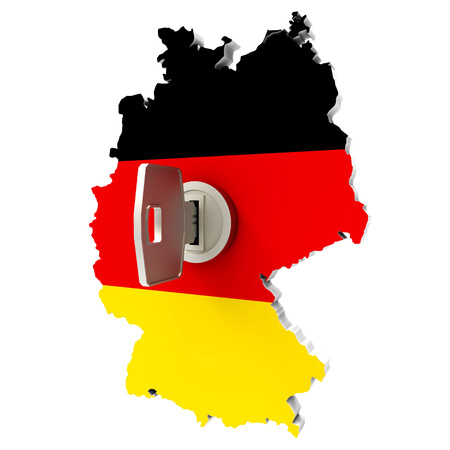 east berlin: map germany with key