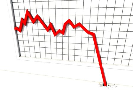 regress: market crash chart Stock Photo