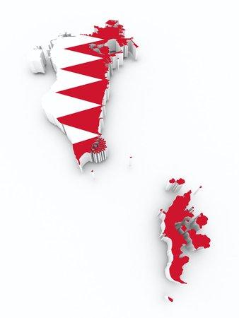 bahrain: Bahrain flag on 3d map