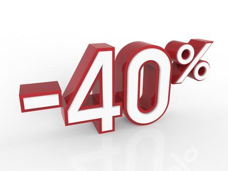 40: discount 40 percent