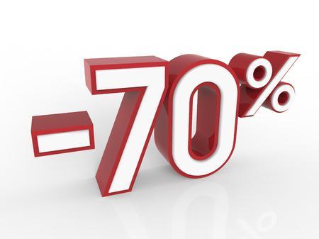 70: discount 70 percent Stock Photo