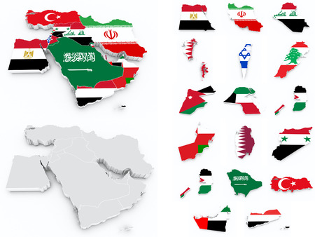 compilation: middle east flags compilation