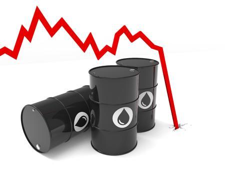 oil barrel price drop multiple