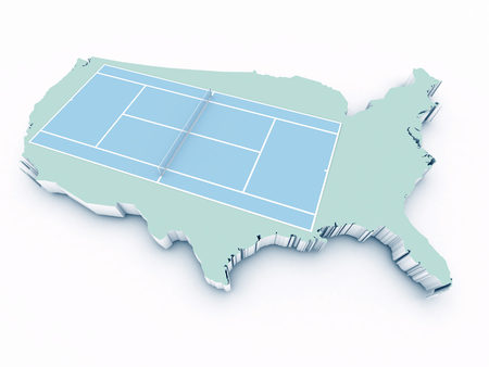 tennis court on 3d united states