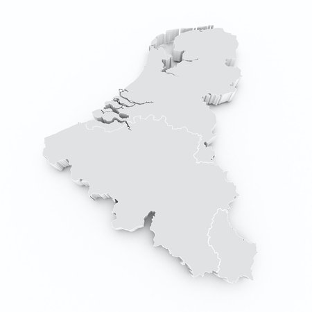 benelux 3d map