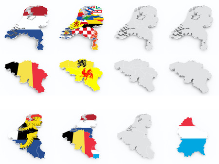 benelux: benelux flags compilation