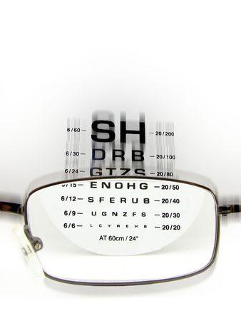 eye test: Eye test Stock Photo