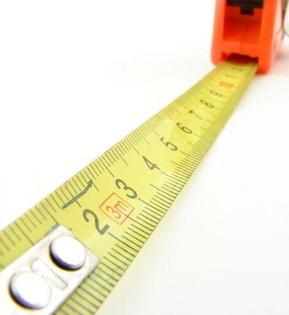 cintas metricas: Meter aisladas Foto de archivo
