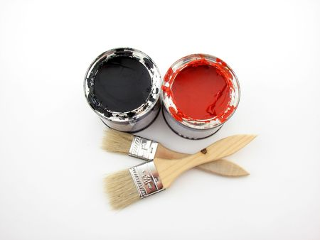 paintbucket: Paintbuckets and brushes