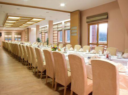 Restaurant, luxury served table photo