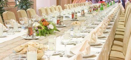 served: Restaurant, luxury served table