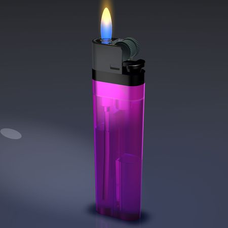 Lighter Flame Stok Fotoğraf