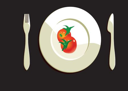 Dining Plate With Tomatoes