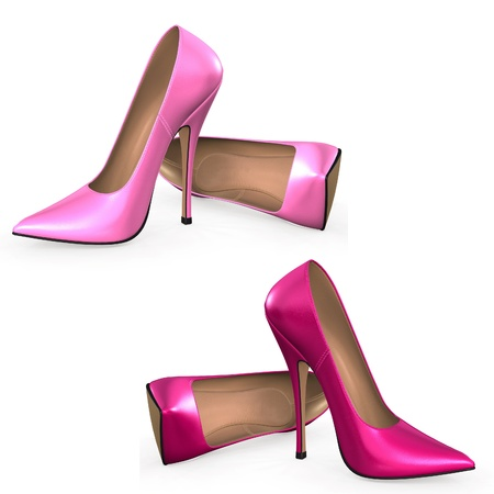 pink shoes: High Heels