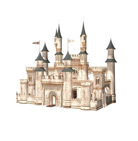 castillos de princesas: Cuento de hadas del castillo Foto de archivo