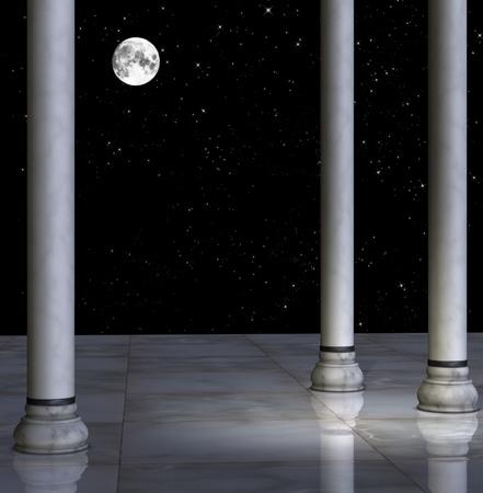 melancholic: Full moon illustration