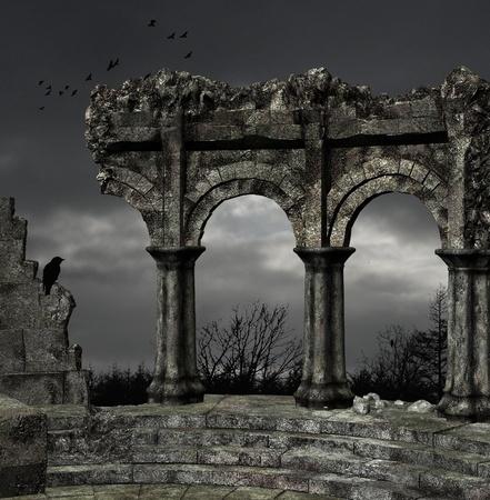 columnas romanas: Ruinas antiguas