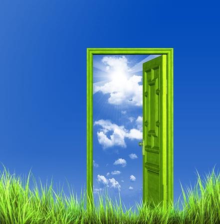 abrir puerta: Abra la puerta