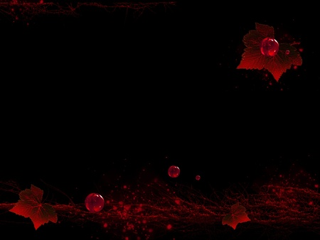 brushwood: Abstract graphic in red and black